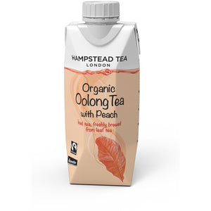 Trade Case of Organic Demeter and Fairtrade Oolong Iced Tea with Peach - Hampstead Tea - Biodynamic and Organic Teas