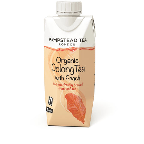 Organic Demeter and Fairtrade Oolong Iced Tea with Peach - Hampstead Tea - Biodynamic, Organic and Fairtrade Tea - 3