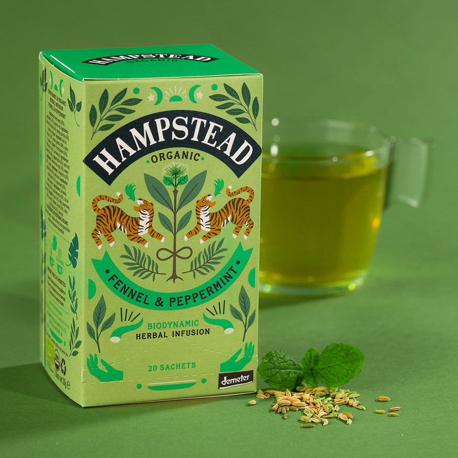 Hampstead Tea Organic Fennel & Peppermint Tea Bags - Hampstead Tea - Biodynamic and Organic Teas