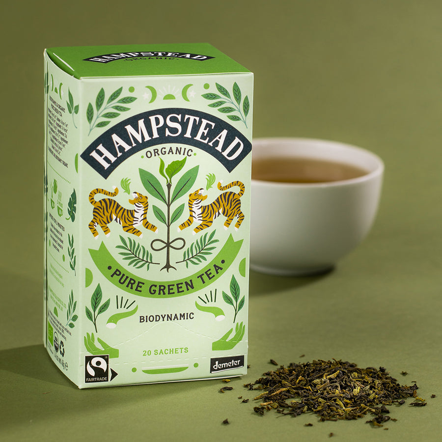 Hampstead Tea Organic Fairtrade Green Tea Bags - Hampstead Tea - Biodynamic and Organic Teas