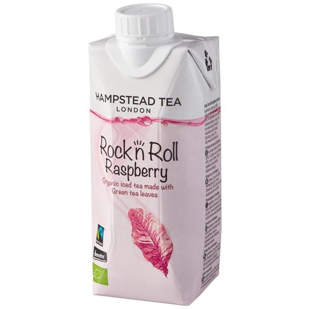 Organic Demeter and Fairtrade Raspberry & Green Ice Tea - Hampstead Tea - Biodynamic and Organic Teas