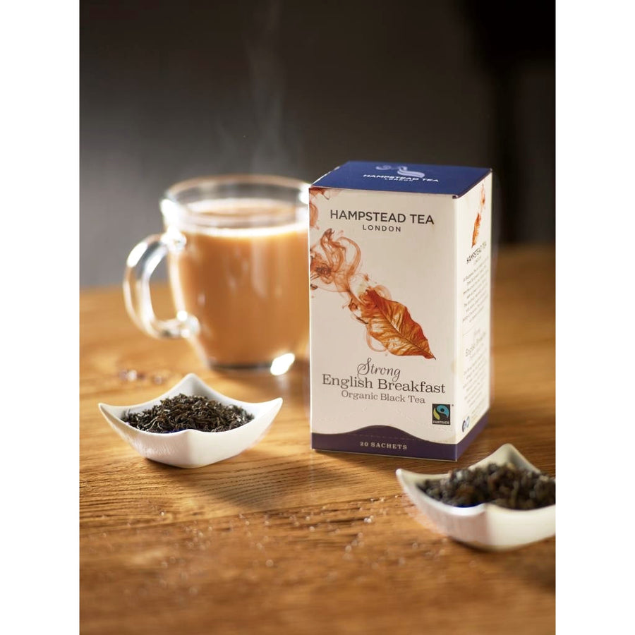 Trade Case of Organic Fairtrade Strong English Breakfast 4x20 Tea Bags - Hampstead Tea - Biodynamic and Organic Teas