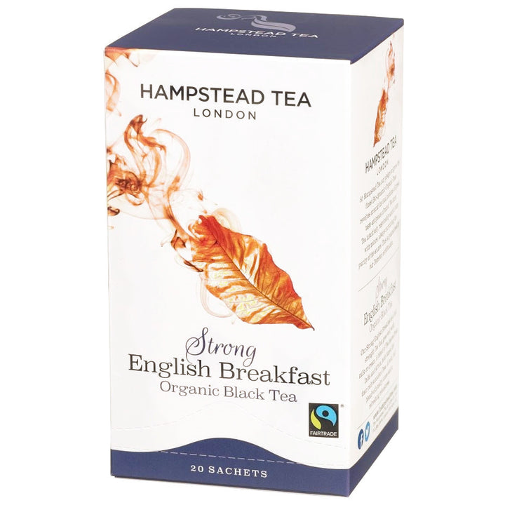 Organic Fairtrade Strong English Breakfast Tea bags - Hampstead Tea - Biodynamic and Organic Teas