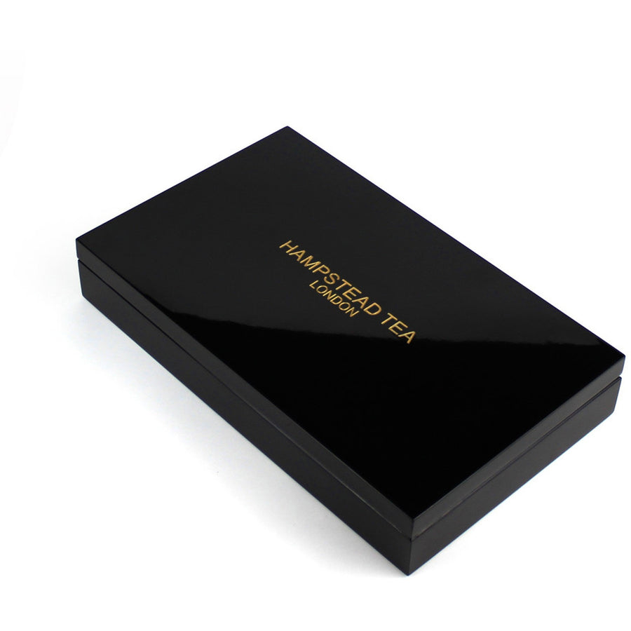 Luxury black 8 compartment box - Hampstead Tea - Biodynamic and Organic Teas