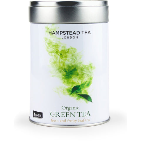 Organic Demeter Green Leaf Tea Tin - Hampstead Tea - Biodynamic, Organic and Fairtrade Tea