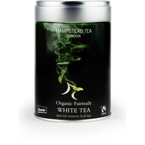 Trade Case of Organic White Tea Tins 6 x 25g - Hampstead Tea - Biodynamic, Organic and Fairtrade Tea