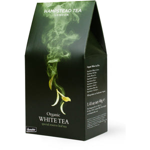 Trade Case of Organic Demeter White Tea Pouch 6x40g - Hampstead Tea - Biodynamic and Organic Teas