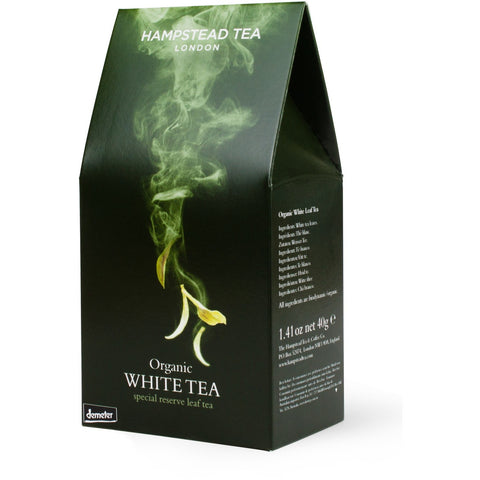 Trade Case of Organic White Tea Pouch 6 x 100g - Hampstead Tea - Biodynamic, Organic and Fairtrade Tea