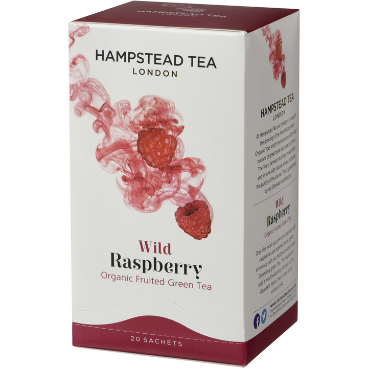 Trade Case of Organic Raspberry Tea - Hampstead Tea - Biodynamic and Organic Teas
