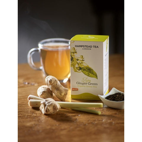 Trade Case of Organic Zesty Ginger Green - Hampstead Tea - Biodynamic, Organic and Fairtrade Tea - 2