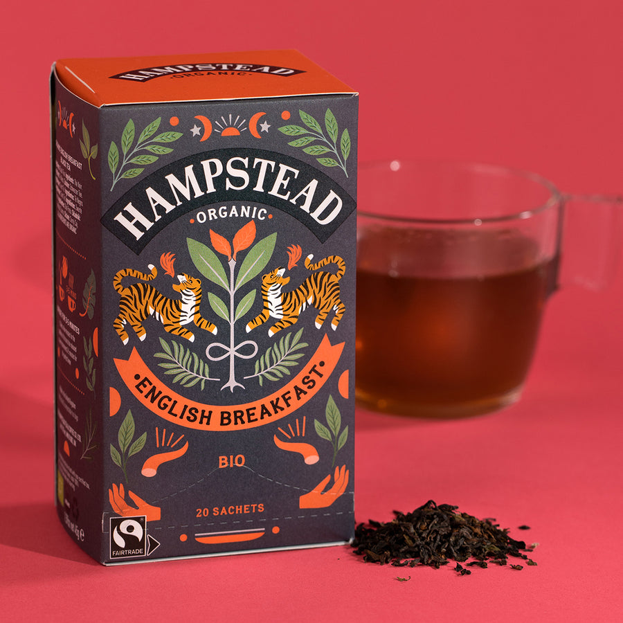 Hampstead Tea Organic Fairtrade English Breakfast Tea Bags - Hampstead Tea - Biodynamic and Organic Teas
