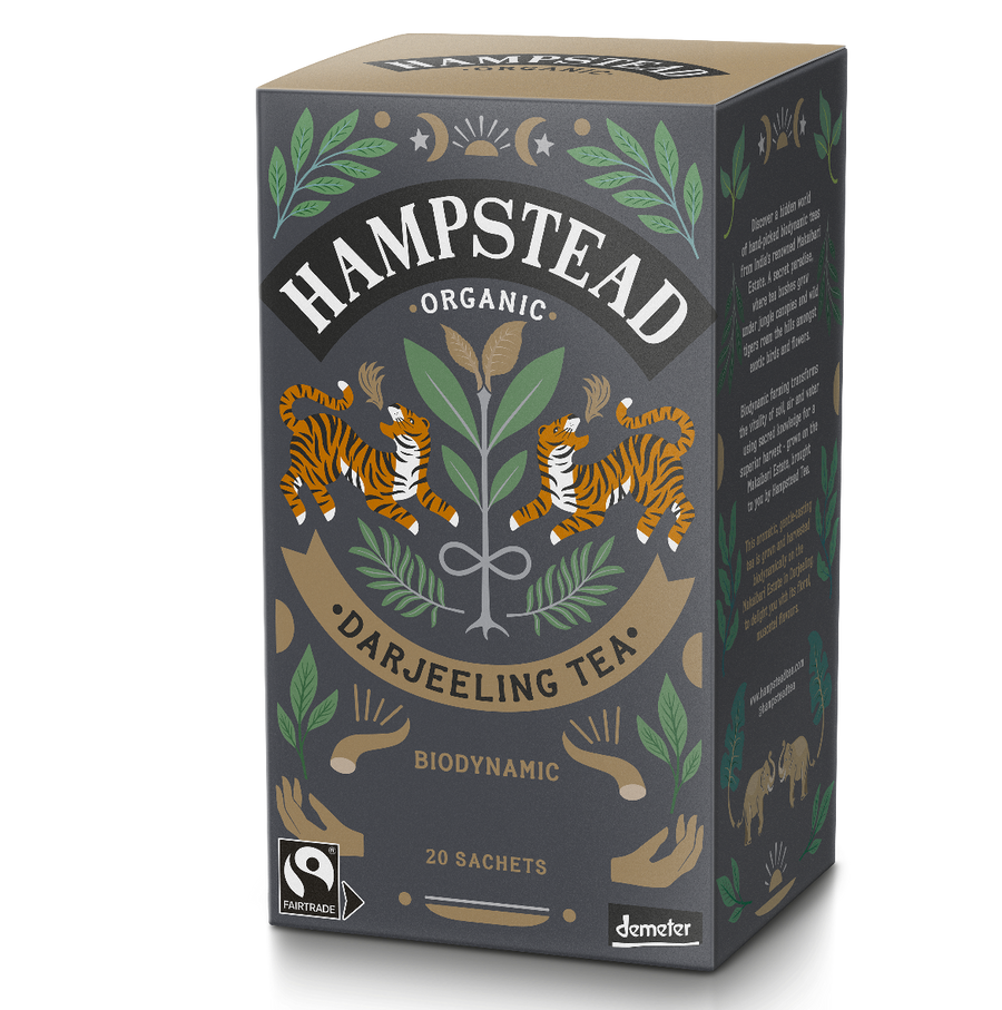 Hampstead Tea Organic and Fairtrade Darjeeling Tea Bags - Hampstead Tea - Biodynamic and Organic Teas