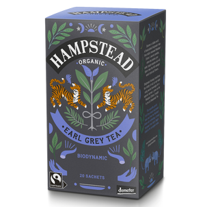 Organic and Fairtrade Earl Grey Tea Bags - Hampstead Tea - Biodynamic and Organic Teas