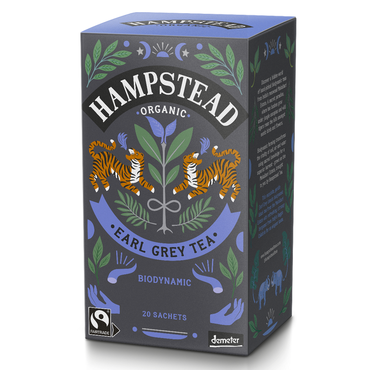 Hampstead Tea Organic and Fairtrade Earl Grey Tea Bags - Hampstead Tea - Biodynamic and Organic Teas