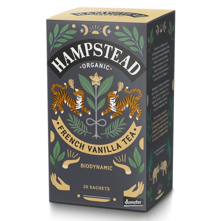 Organic French Vanilla Tea Bags - Hampstead Tea - Biodynamic and Organic Teas