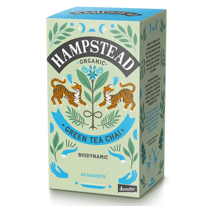 Hampstead Tea Organic  Chai Green Tea Bags - Hampstead Tea - Biodynamic and Organic Teas