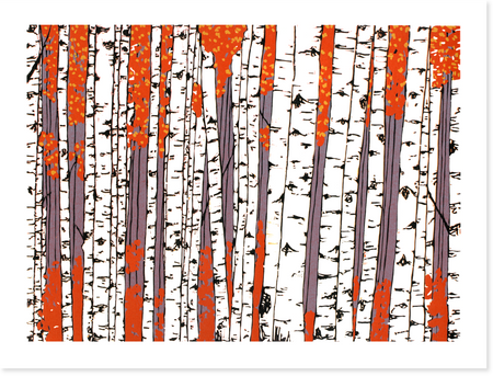 Birch Tree Forest Print