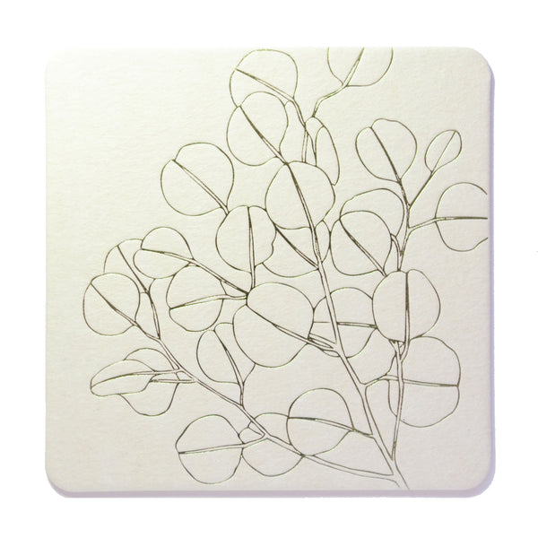 C107 - Silver Dollar Coaster Set of 8