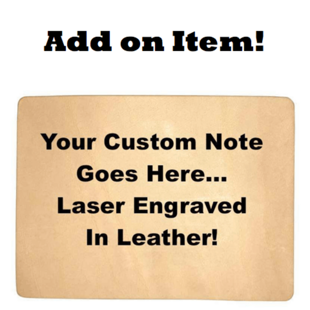 custom leather engraved message