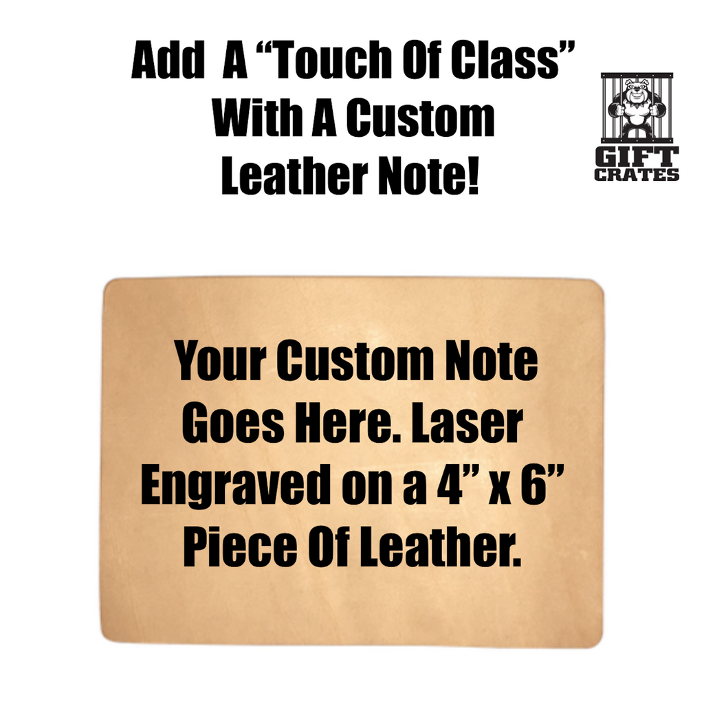 custom engraved leather note