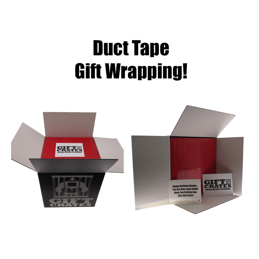 Gift Crate with Duct Tape Wrapping