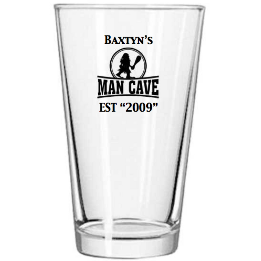 Man Cave Personalized Pint Glass