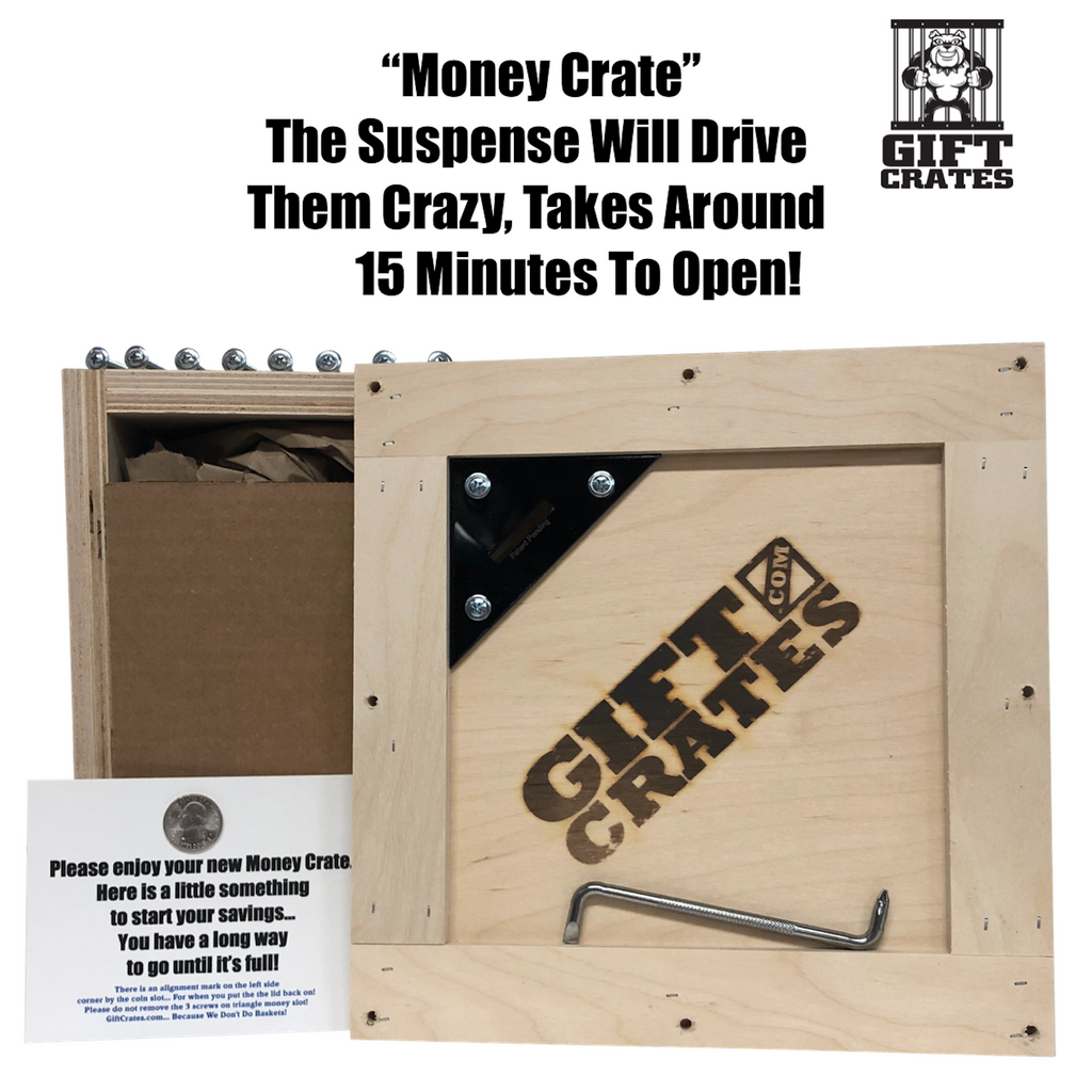 Money Crate Piggy Bank