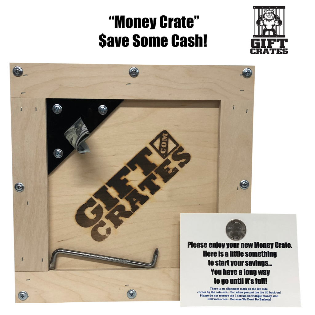 Money Gift Crate Piggy Bank