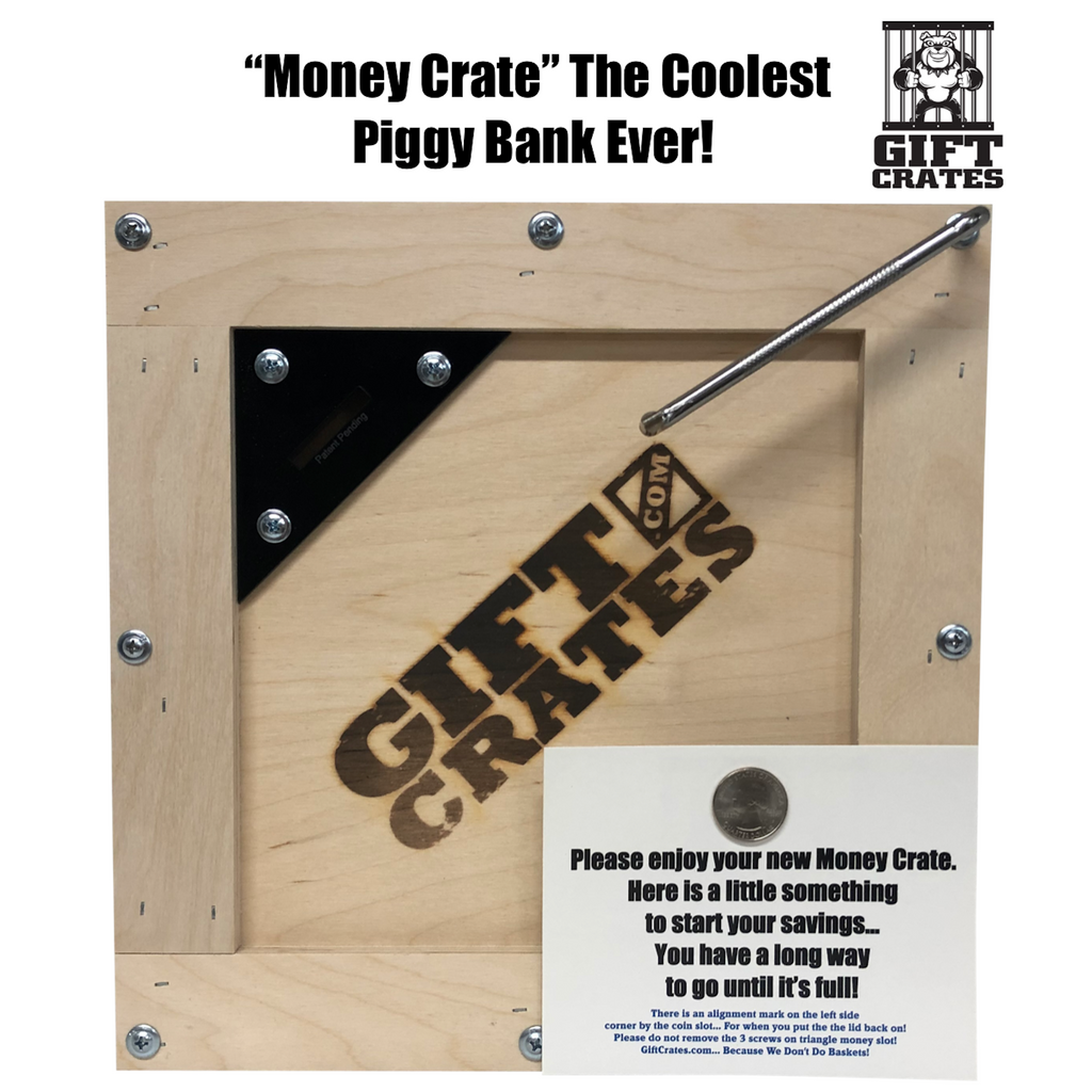 Money Gift Crate Sealed with Screwdriver