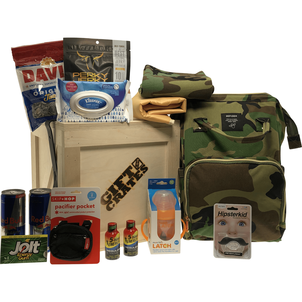 New Parents Backpack Gift Crate Camo