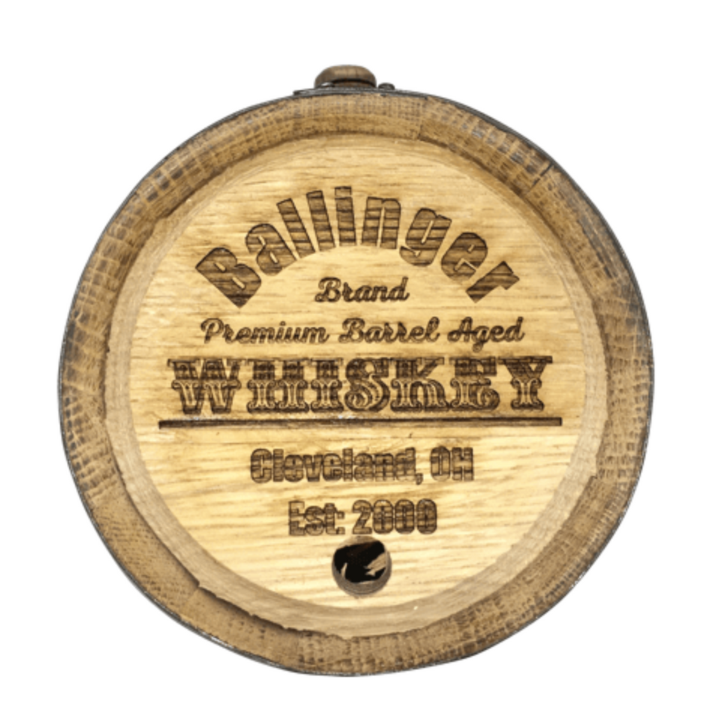 Engraved Whiskey Barrel