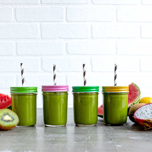 Mason Jar Lids with Holes - Rawkstar Smoothie Shop