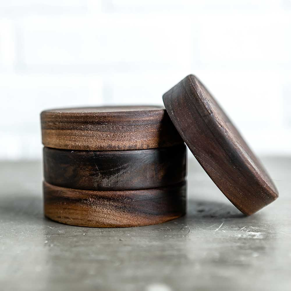 Hand-Turned Walnut Lid - Rawkstar Smoothie Shop