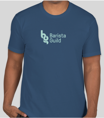 Barista Guild Branded T Shirt in Cool Blue