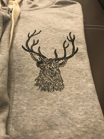 Barists Guild of Europe Grey Hoodie with Stag Motif