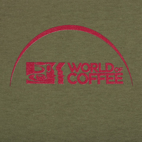 Olive T Shirt with World of Coffee logo