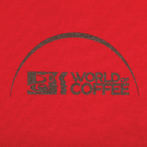 Red T Shirt with World of Coffee logo