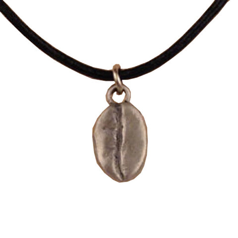 Pewter Coffee Bean Pendant