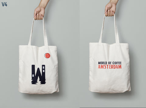 World of Coffee Tote Bag