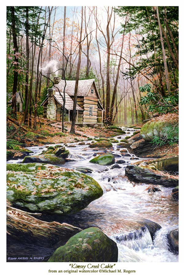 Kimsey Creek Cabin Fine Art Print