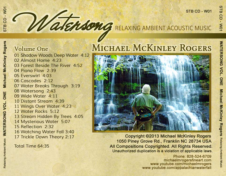 CD BACK COVER WATERSONG VOL 1