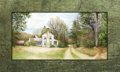 Betty's Creek Farmhouse Canvas Print