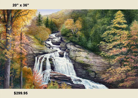"""Cullasaja Falls in Autumn""  Canvas Print"