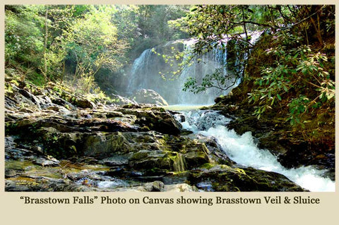 Brasstown Falls - Photo on Canvas