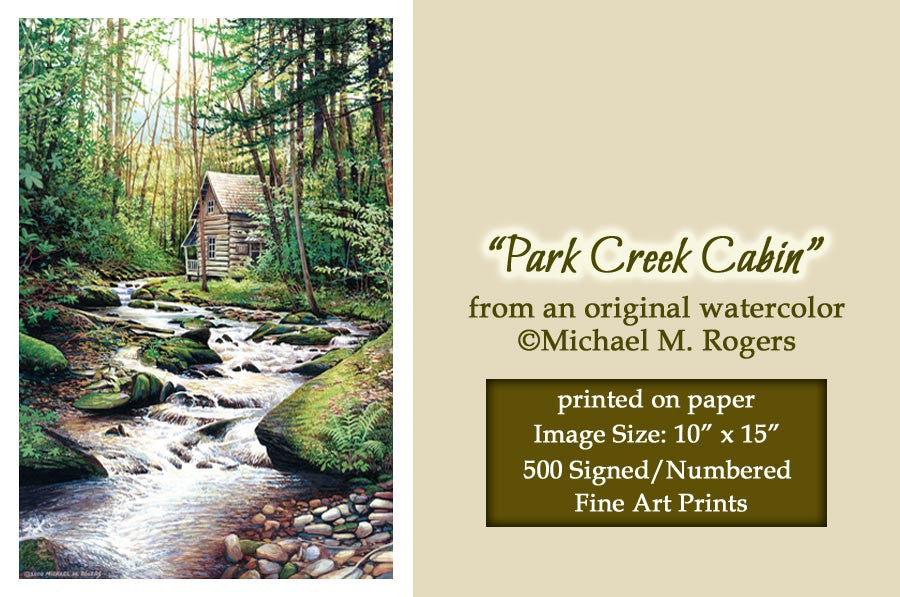 """Park Creek Cabin"" Fine Art Print On Paper"