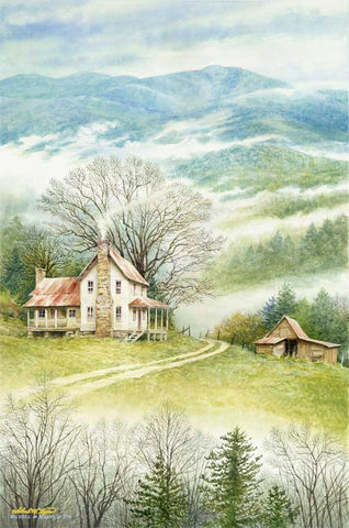 Blueridge Farmhouse Print