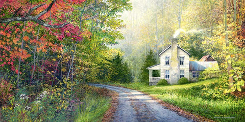 """Buck Creek Autumn Farmhouse"" Cavnas Print"