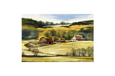 """Ellijay Farm""  Limited Edition Fine Art Print on Paper"