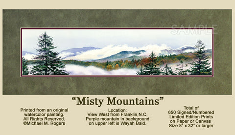 Misty Mountains Artwork