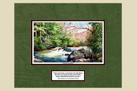 """Nantahala Headwaters"" with Quote on Canvas with Canvas Border"